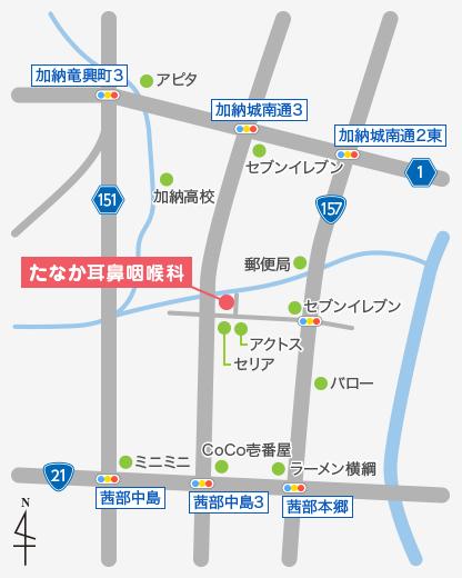 イラストの地図